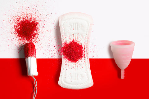 Period products and menstrual cups