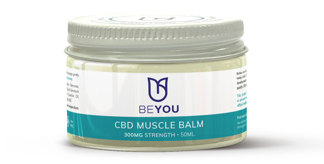 cbd muscle balm for muscle pain, period cramps, muscular tension