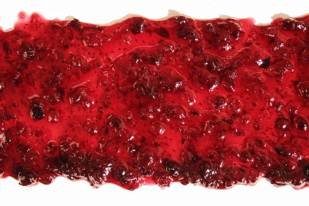 Spilt strawberry jam