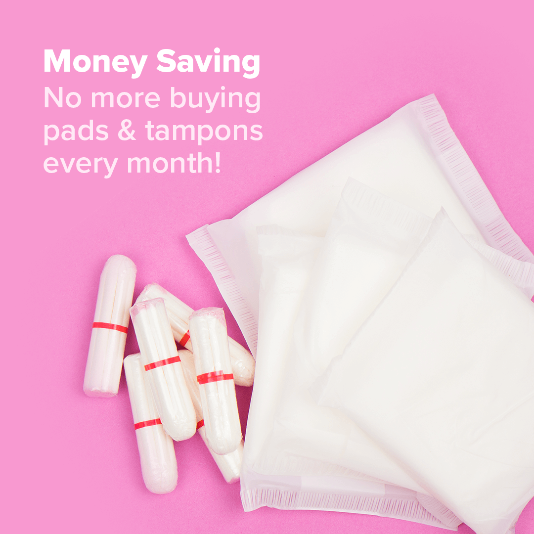 save money with menstrual cups compared to pads and tampons