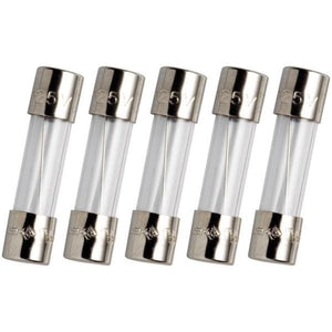 Glass Fuses | 5x20mm | Slow Blow | Pack of 5 | 6.3A