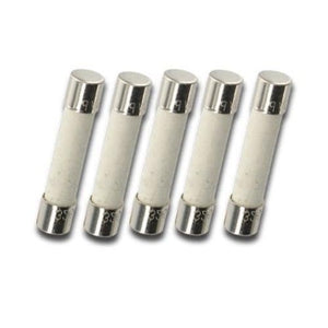 Ceramic Fuses | 6x30mm | Slow Blow | Pack of 5 | 10A