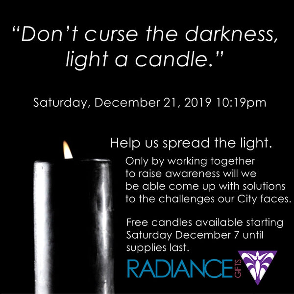 Don't curse the darkness, light a candle.