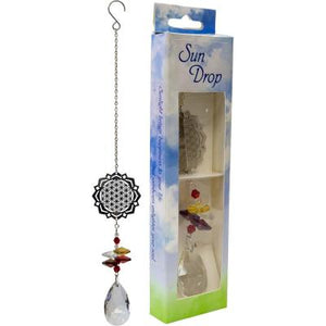Flower of Life Hanging Crystal
