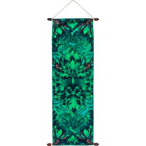 Green Man Banner - French Crepe Poly Banner