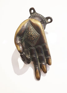 Solid Brass Mudra Wall Hand