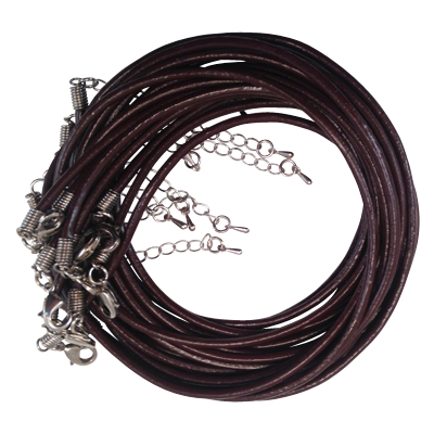 Black Leather Necklace Cord