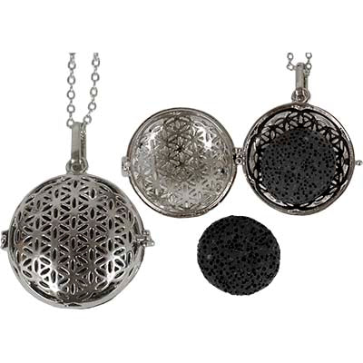 Flower of Life Aromatherapy Locket Pendant
