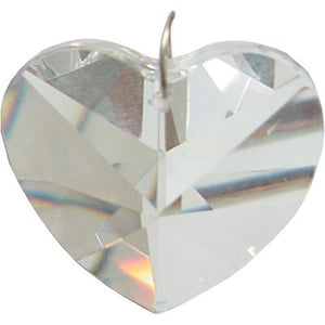 Clear Crystal Heart Prism