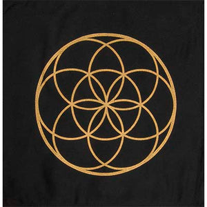 Seed of Life Printed Cotton Crystal Grid
