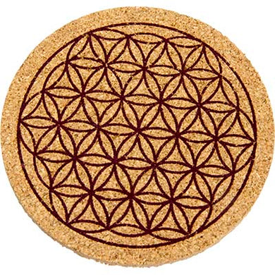 Flower of Life Cork Coaster