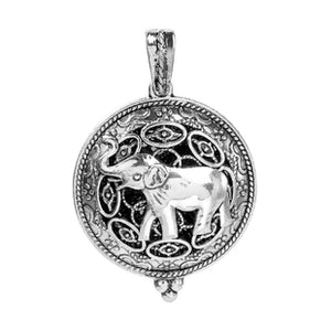 Copper Aromatherapy Elephant Essential Oil Diffuser Locket Pendant