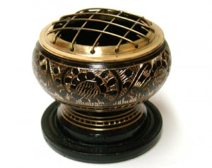 Brass Screen Burner Black w/Coaster