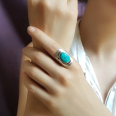 Turquoise Ring - Sz 8