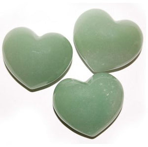 Puffy Heart Stones - Green Aventurine