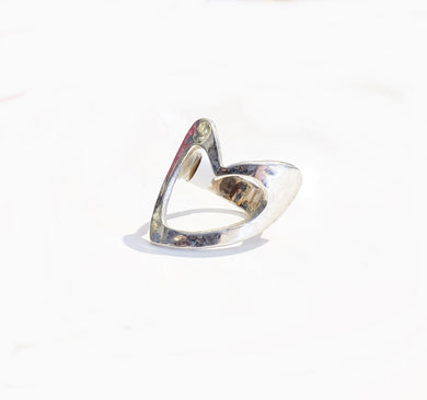 Sterling Silver Heart Ring - Sz 7