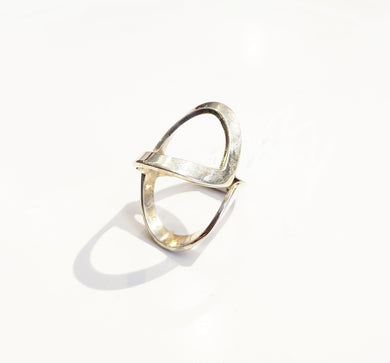 Sterling Silver X Ring - Sz 6