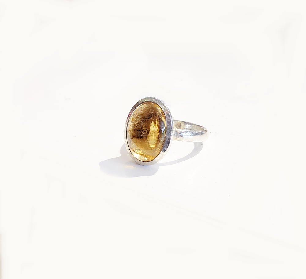 Citrine Oval Ring - Sz 8