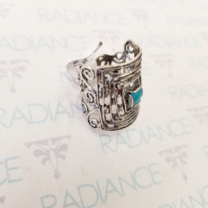 Silver Israeli Turquoise Ring Sz 8.5