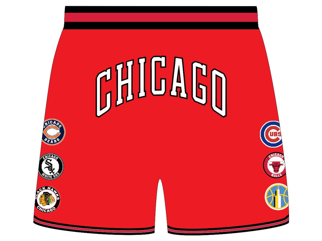 THIS IS CHICAGO Basketball Shorts RED