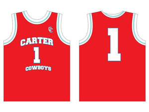 CARTER COWBOYS BASKETBALL JERSEY RED