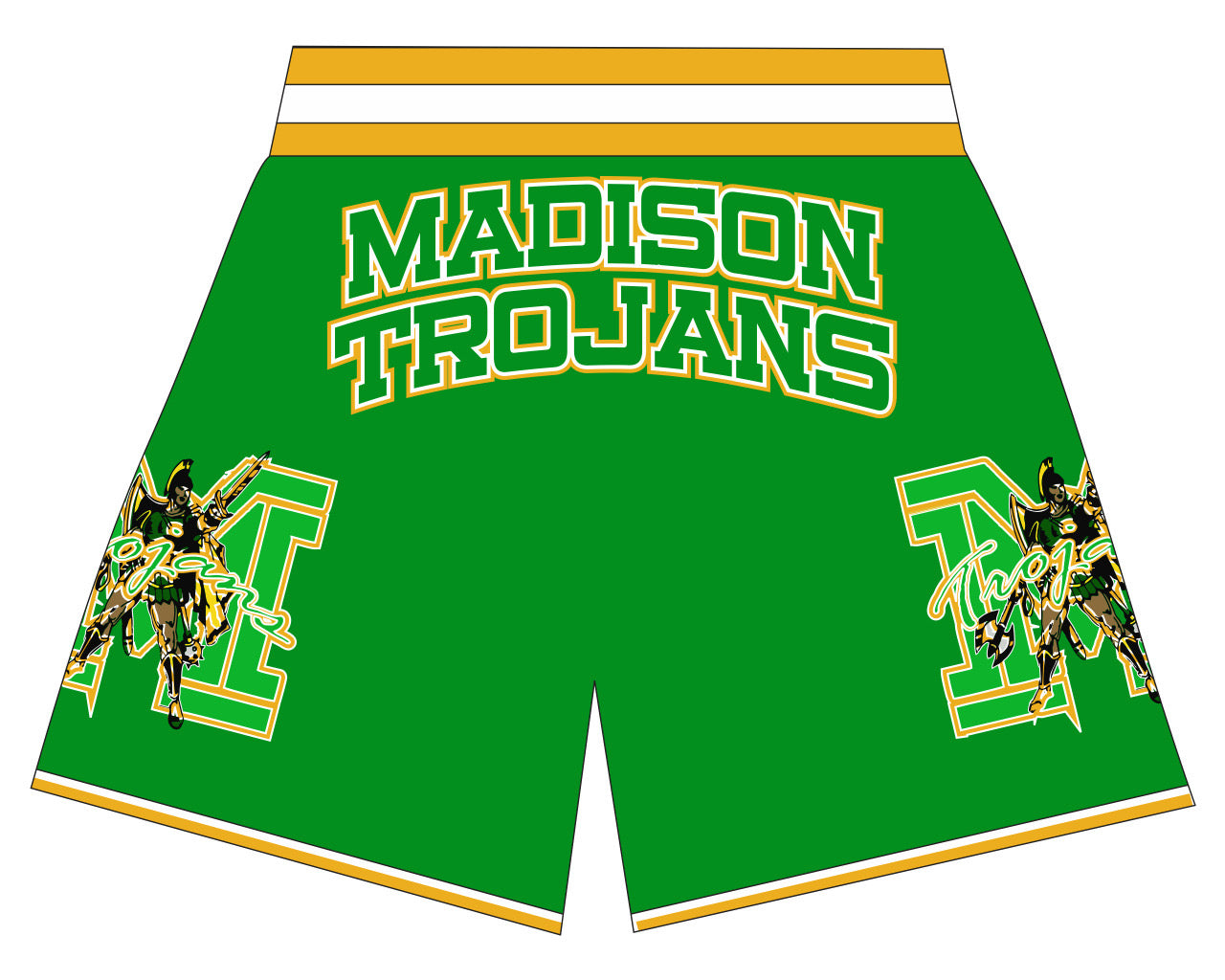DALLAS MADISON TROJANS HIGHSCHOOL BASKETBALL SHORTS