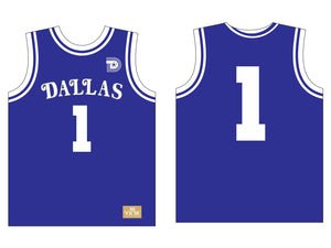 DALLAS BASKETBALL JERSEY BLUE