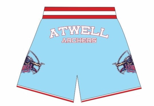 ATWELL ARCHERS BASKETBALL SHORTS COLUMBIA BLUE