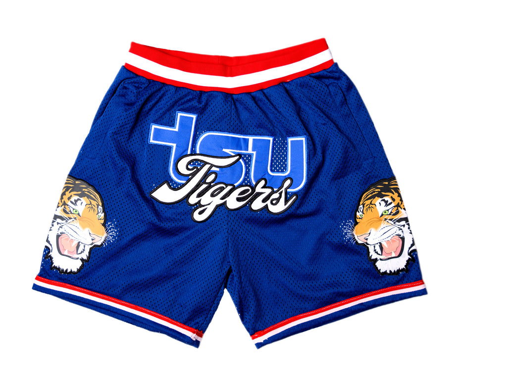 TSU TIGER BASKETBALL SHORTS BLUE