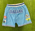 THIS IS DALLAS  Basketball Shorts Baby Blue