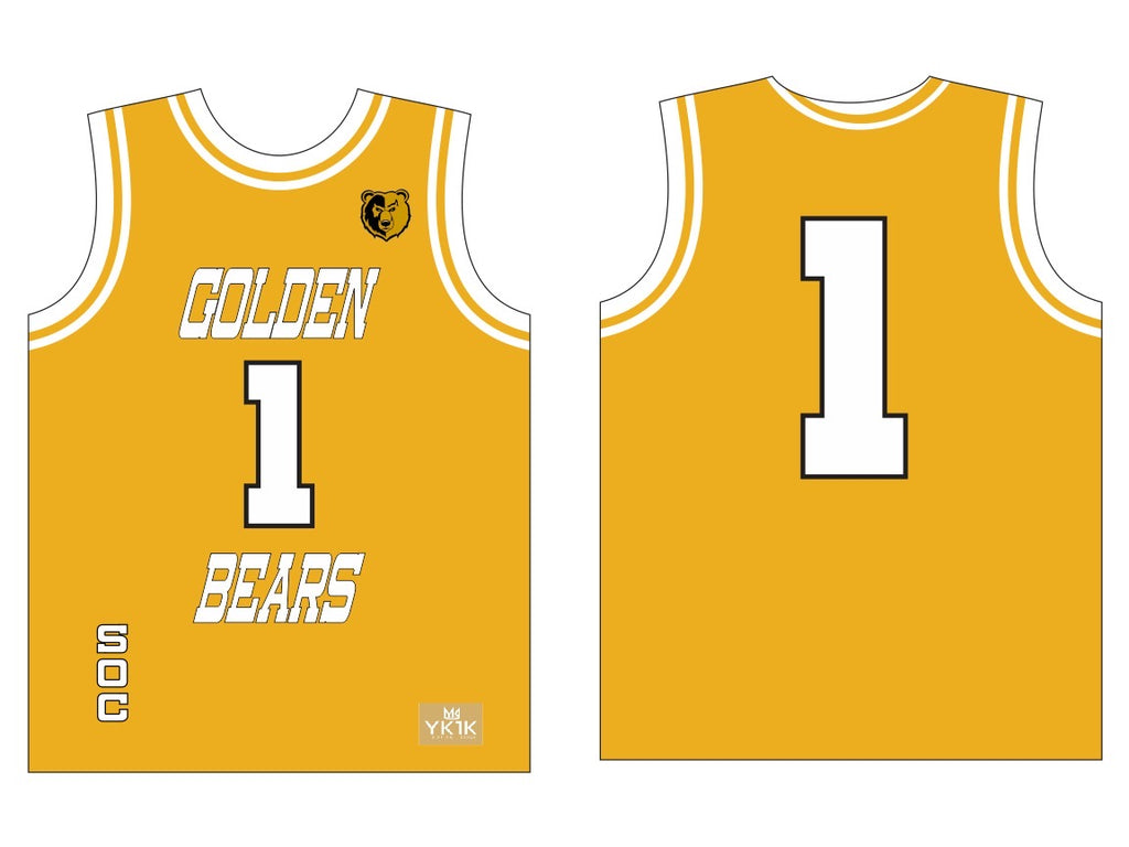 S.O.C. BASKETBALL JERSEY OLD GOLD