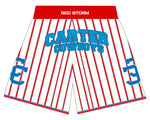 Dallas Carter RED STORM Basketball Shorts White/Red pinstripes