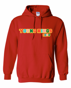 MULTI COLOR 1000 Graphic HOODIE RED