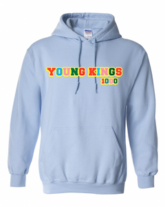 MULTI COLOR 1000 Graphic HOODIE LIGHT BLUE