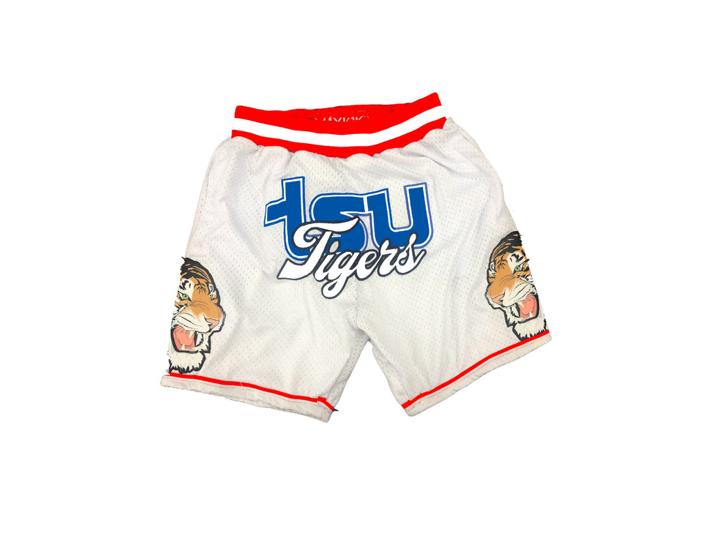 TSU WHITE TIGERS BASKETBALL SHORTS WHITE