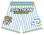 SOUTHERN UNIVERSITY BASKETBALL SHORTS WHITE Columbia  BLUE PINSTRIPES