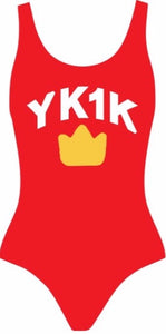 YK1K ONE PIECE SWIM SUIT RED