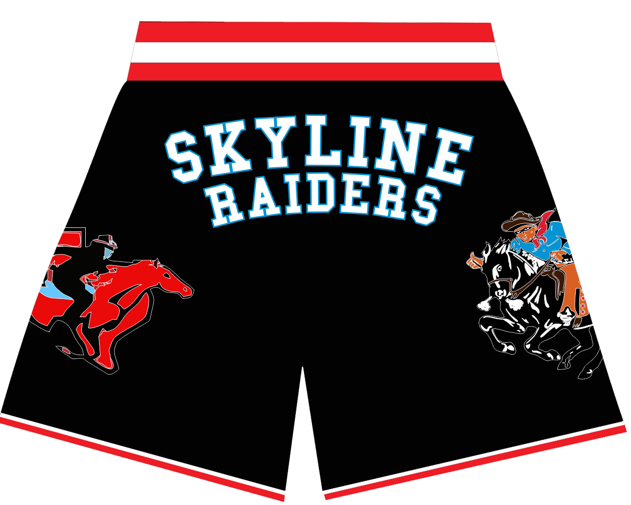 DALLAS SKYLINE BASKETBALL SHORTS BLACK