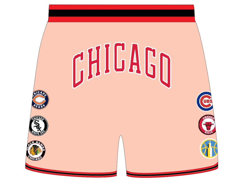 THIS IS CHICAGO Basketball Shorts NUDE