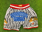 TENN STATE WHITE/ BLACK  PINSTRIPES BASKETBALL SHORTS