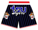 TSU TIGER BASKETBALL SHORTS BLACK BLUE  PINSTRIPES