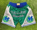 DALLAS MAVS Basketball Shorts GREEN/BLUE/GREY