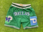 Dallas Basketball Shorts  MAV GREEN