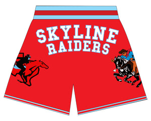 DALLAS SKYLINE BASKETBALL SHORTS Red
