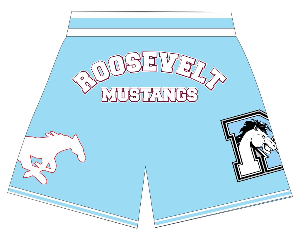 Roosevelt Mustangs BASKETBALL SHORTS COLOMBIA  BLUE