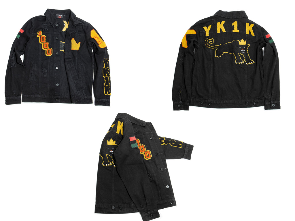 YK1K BLACK DENIM JACKET