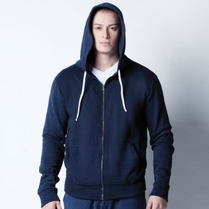 Zip Up Hoodie - Navy Blue