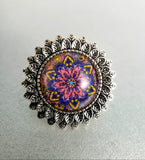 Flower Mandala Cabochon Ring