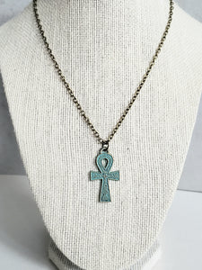 Ankh-Egyptian Cross  Pendant Necklace