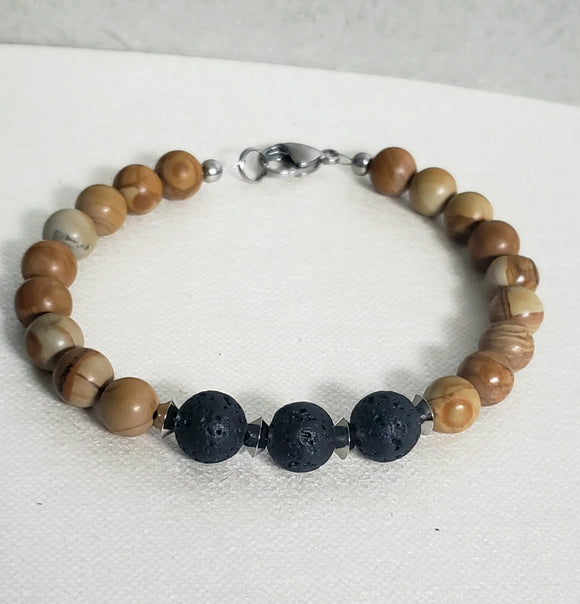 Men's Sandalwood Oil Diffuser Bracelet